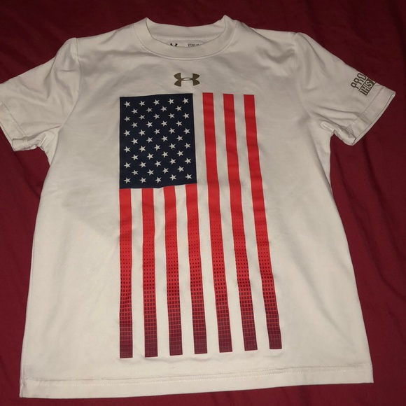 Under Armour Shirts Tops Boys Usa Shirt Poshmark